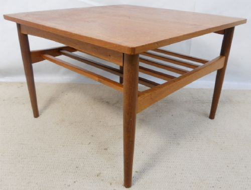 1960's Teak Square Coffee Table
